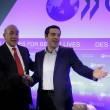 Alexis Tsipras e Angel Gurria, segretario dell'Ocse (LaPresse)