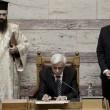Alexis Tsipras e Prokopis Pavlopoulos, nuovo presidente della Grecia (LaPresse)