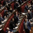 """Camera. Sel lancia crisantemi, M5s e Brunetta urlano: """"Fascisti03"""