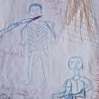 Nigeria, disegni dei bimbi in fuga da Boko Haram: morti decapitati, asce... FOTO 10