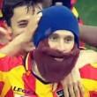 Lecce-Benevento, Papini esulta con la barba di Moscardelli 03