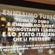 Vicenza. Ennesimo furto, scrive su vetrina Stato italiano protegge ladri02