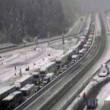 Neve al Brennero: rallentamenti sull'autostrada A22 e tir bloccati03