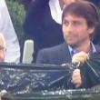 Juventus-Real Madrid, Antonio Conte partecipa alla coreografia 02