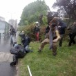 VIEDO YouTube No Expo black bloc. Agente in fiamme FOTO simbolo 1 maggio Milano3