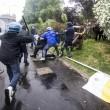 VIEDO YouTube No Expo black bloc. Agente in fiamme FOTO simbolo 1 maggio Milano2
