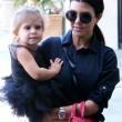 North e Penelope, figlie di Kim e Kourtney Kardashian a danza insieme12