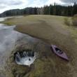 Oregon, la voragine che svuota il lago Lost FOTO