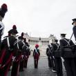Centro anni fa Prima Guerra Mondiale: Mattarella depone corona ad Altare Patria 02