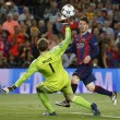 VIDEO YouTube. Messi, gol a cucchiaio in Barcellona-Bayern: Boateng-Neuer a terra 01