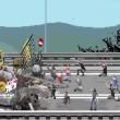 """""""Riot"""", videogioco per No Expo e No Tav: assalto banca, auto polizia in fiamme 10"""