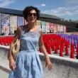 Agnese Renzi madrina a Pitti Bimbo: abito azzurro e linguaccia FOTO 3