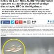 Ufo a Loch Ness? Turisti fotografano oggetto volante non identificato sul lago