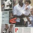 Mario Balotelli e Raffaella Fico a passeggio a Milano con la piccola Pia FOTO 3