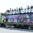 Juventus-Barcellona: tifosi bianconeri affittano bus e girano per Berlino07