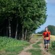 Clément Gass, quasi cieco, corre per 36 km da solo. A guidarlo una app FOTO 3