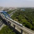 Cina, treno ad alta velocità attraversa il deserto di Gobi FOTO 5