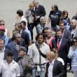 """Roma: funerali Corazon Abordo FOTO Marino contestato: """"Vergogna, vattene""""10"""