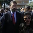 """Roma: funerali Corazon Abordo FOTO Marino contestato: """"Vergogna, vattene""""2"""