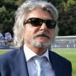 Il presidente della Sampdoria, Massimo Ferrero (foto Ansa)