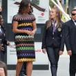 Michelle Obama all'Expo visita il padiglione Italia: abito Missoni FOTO 5
