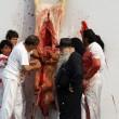 Palermo, animalisti contro la mostra di Nitsch: animali squartati e sangue FOTO