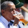 G7: Merkel fa gli onori di casa, Obama beve birra03