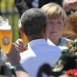 G7: Merkel fa gli onori di casa, Obama beve birra08
