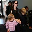 Brad Pitt, Angelina Jolie e famiglia vacanze in Francia13