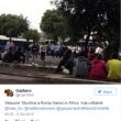 Roma, stazione Tiburtina: profughi dormono in strada tra feci e rifiuti