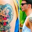 Belen Rodiguez senza tatuaggio dedicato a Stefano De Martino