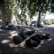 Tiburtina Roma, centinaia di profughi accampati 09