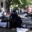 Tiburtina Roma, centinaia di profughi accampati 10