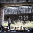 Tiburtina Roma, centinaia di profughi accampati 11