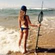 """Valentine Thomas, sexy pescatrice con la fiocina insultata su Fb: """"Assassina""""01"""