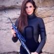"""Valentine Thomas, sexy pescatrice con la fiocina insultata su Fb: """"Assassina""""05"""