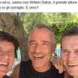 Gianni Morandi, FOTO Facebook con Williem Dafoe Gli somiglio, vero2
