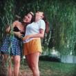 Aurora Ramazzotti con Sara Daniele: il seno sguscia via dal bikini...FOTO3