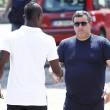 Mario Balotelli ai funerali del padre adottivo Francesco