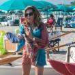 Daniela Santanchè, vacanze al Twiga: partite a racchettoni e bagni in mare9