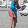 Daniela Santanchè, vacanze al Twiga: partite a racchettoni e bagni in mare6