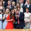 Kate Middleton e William nel box reale a Wimbledon: duchessa sfoggia vestito rosso12