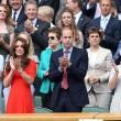 Kate Middleton e William nel box reale a Wimbledon: duchessa sfoggia vestito rosso11