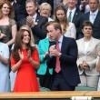 Kate Middleton e William nel box reale a Wimbledon: duchessa sfoggia vestito rosso8
