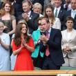 Kate Middleton e William nel box reale a Wimbledon: duchessa sfoggia vestito rosso7