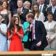 Kate Middleton e William nel box reale a Wimbledon: duchessa sfoggia vestito rosso6