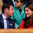 Kate Middleton e William nel box reale a Wimbledon: duchessa sfoggia vestito rosso20