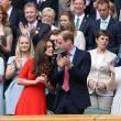 Kate Middleton e William nel box reale a Wimbledon: duchessa sfoggia vestito rosso2