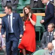 Kate Middleton e William nel box reale a Wimbledon: duchessa sfoggia vestito rosso1