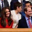 Kate Middleton e William nel box reale a Wimbledon: duchessa sfoggia vestito rosso7117